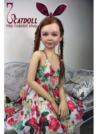 Catdoll super real American girl Rosie with implanted brown hair