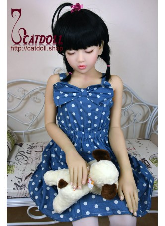 126cm EVO Emelie lovely cute doll,Japanese sleeping face loli doll with flat chest on catdoll shop