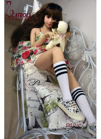 Catdoll Rosie,126cm American mini doll,small breast young real doll,real silicone doll,lifelike doll shop