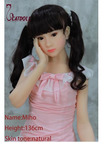 Catdoll Miho EVO,136cm Japanese small breast doll,lovely young girl doll,school teen girl doll for men